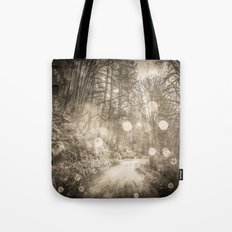 Forest Path - Vintage Sepia Magical Nature Trail Tote Bag