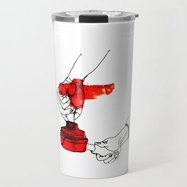 A Female Coffee Barista Travel Mug