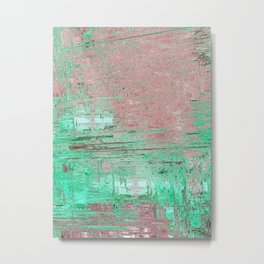 abstract 009 - Green Metal Print