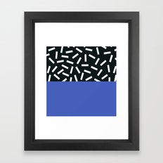 Memphis pattern 19 Framed Art Print