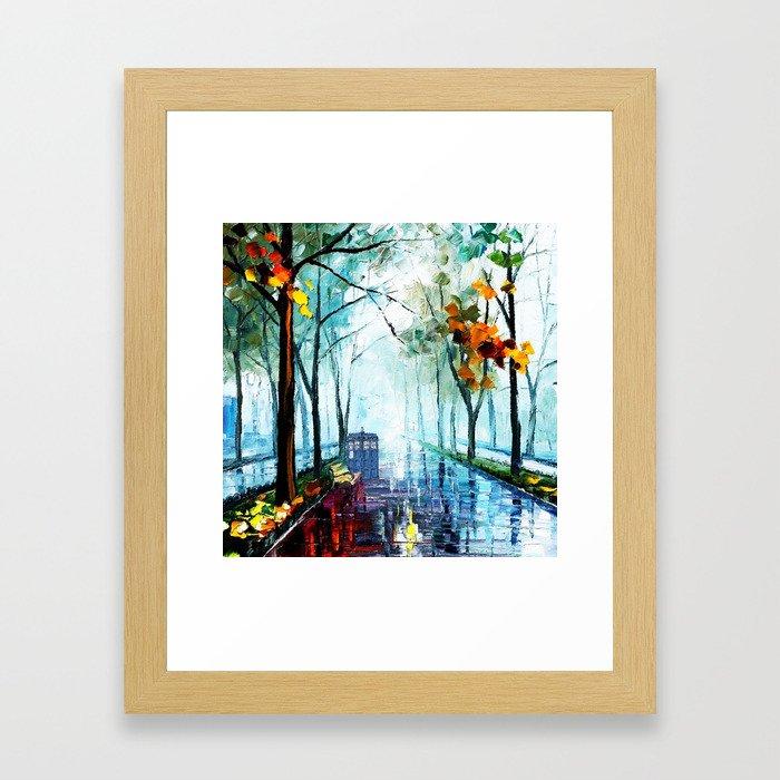 Tardis And The Street Chair Framed Art Print
