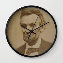 Abraham Lincoln - Vintage Photograph Wall Clock