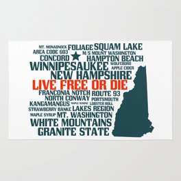 New Hampshire Live Free or Die Rug