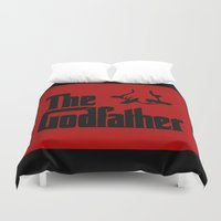 the godfather Duvet Covers featuring The Godfather by SwanniePhotoArt