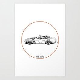 Crazy Car Art 0001 Art Print