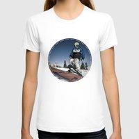 ski T-shirts featuring ski park by Patrick Draper