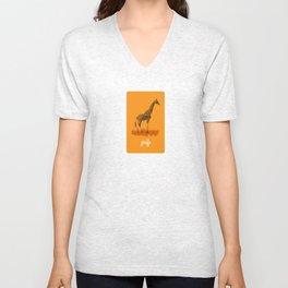 4-legged Exotica Series: Giraffe Unisex V-Neck