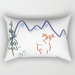 Mountain Air I Rectangular Pillow