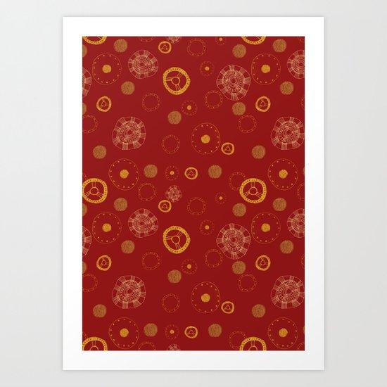 Arc Reactor Polka Dots Art Print