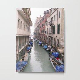 Streets in Venice Metal Print