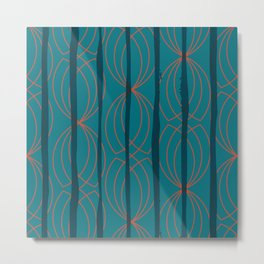 BLOCK STRIPES & GRAPIC I Metal Print