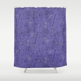 Inventory in Purple Shower Curtain