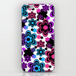 Rainbow Floral Abstract iPhone Skin