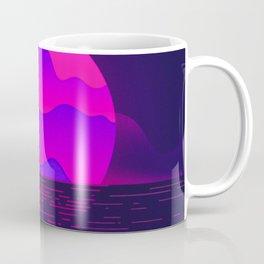 Synthwave Space #12: Twilight horizon (pixelart) Coffee Mug