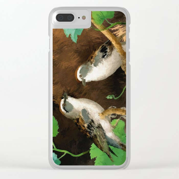 Painting of a Bird Clear iPhone Case
