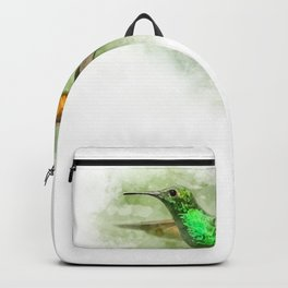 Colorful Hummingbird Illustration Bird Lover Biologist Backpack