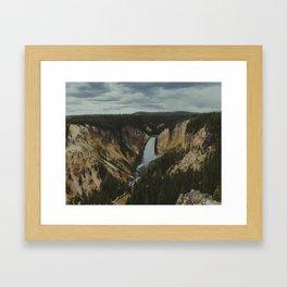 Yellowstone National Park Falls Framed Art Print