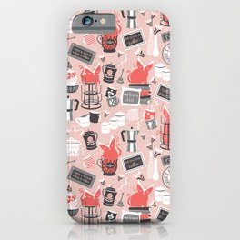 Modern farmhouse coffee station // pink iPhone Case