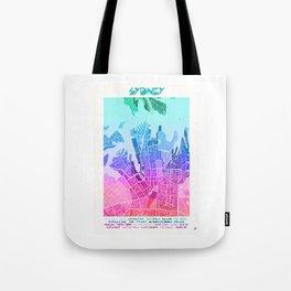 Sydney Map (Colour Gradient) Tote Bag
