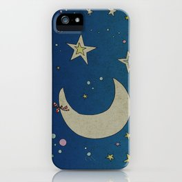 Moon Hanging iPhone Case