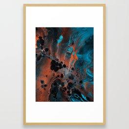 Copper Ocean Framed Art Print