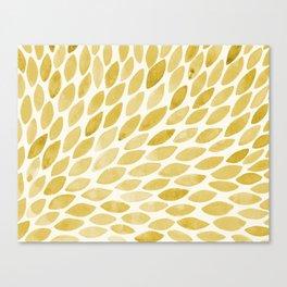 Watercolor brush strokes burst - yellow Canvas Print