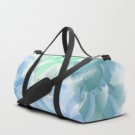 Big Flowers With Blue and Green Duffle Bag