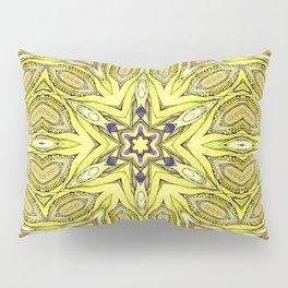 Yellow mandala Pillow Sham