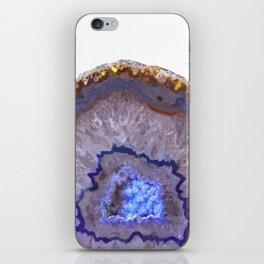 Druze dark blue agate iPhone Skin