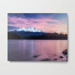 Sublime a sunrise at Lake Siskiyou with Mt. Shasta Metal Print