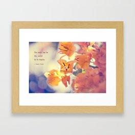 Begin with Joy Framed Art Print