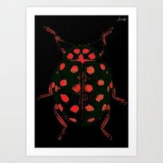 Insecte rouge et noir colors fashion Jacob's Paris Art Print
