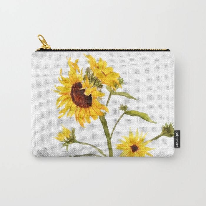 One sunflower watercolor arts Carry-All Pouch