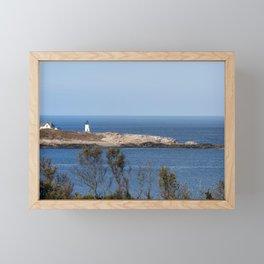Autumn at Straitsmouth Island Lighthouse Framed Mini Art Print