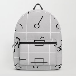 icons switches, electrical symbols Backpack