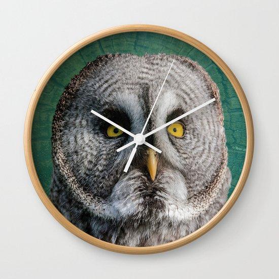 GREY OWL Wall Clock