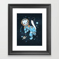 Space Ermine Framed Art Print