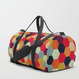 Colorful Beehive Pattern Duffle Bag
