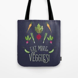 Eat more veggies! Dark version Tote Bag