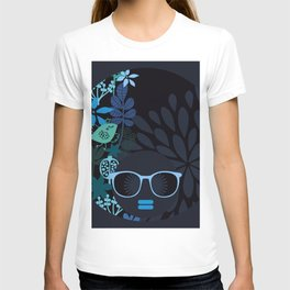 Afro Diva : Sophisticated Lady Teal T-shirt