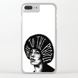 Power To The People Clear iPhone Case