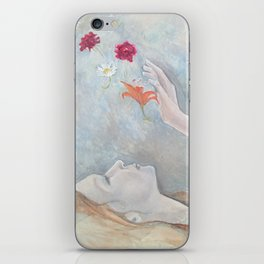 wish I could blow you daisies like kisses iPhone Skin