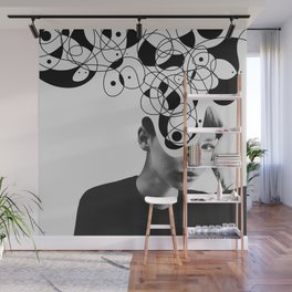 Abstraction - version 2. BW Wall Mural