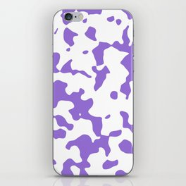 Large Spots - White and Dark Pastel Purple iPhone Skin