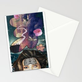 crazy thoughts Stationery Cards
