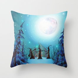 Witch Coven Throw Pillow
