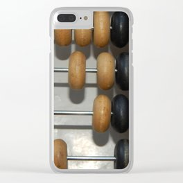Manual mechanical abacus for accounting and financial calculations Clear iPhone Case