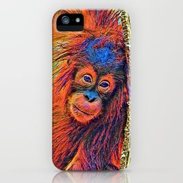 AnimalColor_OrangUtan_001_by_JAMColors iPhone Case