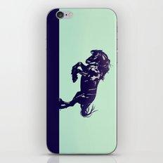 Dark Blue Stallion iPhone Skin