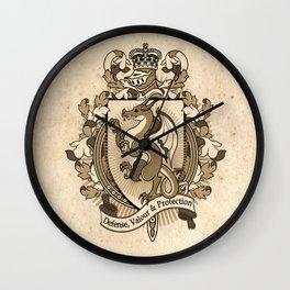 Dragon Coat Of Arms Heraldry Wall Clock